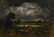 Narcisse Diaz de la Peña; The Storm; 1872; oil on panel; 58.7 x 85.7 cm; The Walters Art Museum