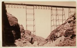 William Henry Jackson; Canon Diablo Bridge; c.1880; albumen print; 10.2 x 16.6 cm; Fine Arts Museums of San Francisco