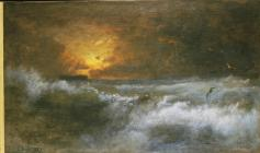 George Inness; Sunset Over the Sea; 1887; oil on canvas; Brooklyn Museum of Art