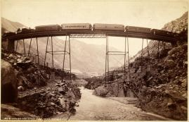 William Henry Jackson; High Bridge in the Loop, Near Georgetown; c.1885; albumen print; 11.3 x 17.6 cm; George Eastman House