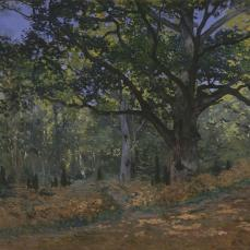 Claude Monet; The Bodmer Oak, Fontainebleau Forest; 1865; oil on canvas; 96.2 x 129.2 cm; The Metropolitan Museum of Art