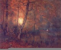 George Inness; Pool in the Woods; oil on canvas; Worcester Art Museum