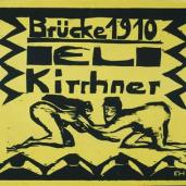 Erich Heckel; Cover of Fifth Year Portfolio; 1910; woodcut