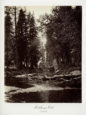 Carlton E. Watkins; Hutchings Hotel, Yosemite ; c.1876; albumen silver print from glass negative; The Metropolitan Museum of Fine Art