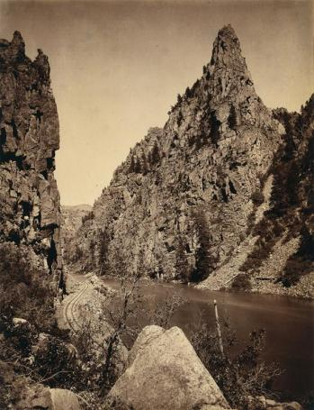 William Henry Jackson; Currecanti Needle, Black Canon of the Gunnison; c.1880