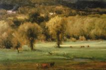 George Inness; The Coming Storm (left stand of trees); 1878; oil on canvas; Albright-Knox Art Gallery