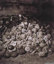 Félix Nadar; Catacombs; 1861-2; albumen print