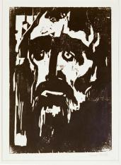 Emil Nolde; Prophet; 1912; woodcut; Staatliche Museen zu Berlin--Preussischer Kulturbesitz