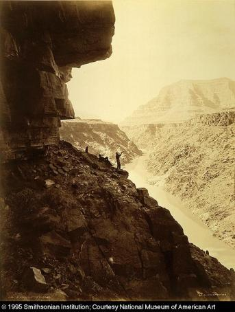 William H. Jackson; Grand Canyon of the Colorado; c.1880; albumen print on paper mounted on paperboard; 53.7 x 42.8 cm; Smithsonian Art Museum