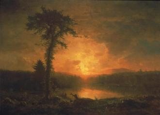 George Inness; The Close of the Day; 1863; oil on canvas; J.B. Speed Art Museum
