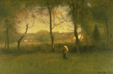 George Inness; Woodgatherers: Autumn Afternoon; 1891; Sterling and Francine Clark Art Institute