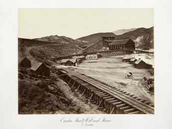 Carlton E. Watkins; Eureka Quartz Mill and Flume, Nevada; c.1876; albumen silver print from glass negative; The Metropolitan Museum of Fine Art