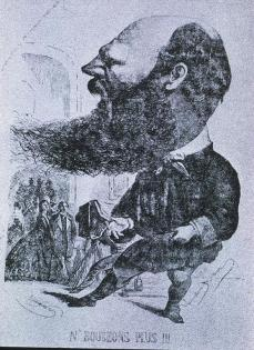 André Adolphe Eugène Disdéri; Caricature of the Artist Used as Ad in Paris Journals; 1861; wood engraving