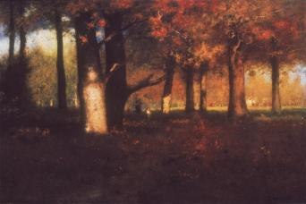 George Inness; Woodland; 1891; oil on canvas; Pennsylvania Academy of Fine Arts
