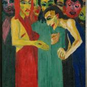 Emil Nolde; Life of Christ Triptych: detail from the right wing showing the panel of the Doubting Thomas; 1911-2; oil on canvas; 100 x 86 cm; Stiftung Seebüll Ada und Emil Nolde