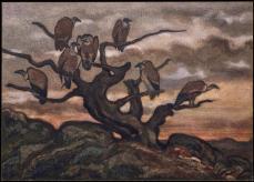 Antoine Louis Barye; Vultures on a Tree; XIX century; watercolor; 27.1 x 38.4 cm; The Metropolitan Museum of Art