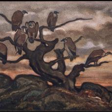 Antoine Louis Barye; Vultures on a Tree; XIX century; watercolor; 27.1 x 38.4 cm; The Metropolitan Museum of Art