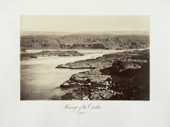 Carlton E. Watkins; Passage of the Dalles, Oregon; c.1876; albumen silver print from glass negative; The Metropolitan Museum of Fine Art