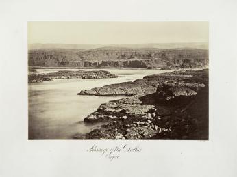 Carlton E. Watkins; Passage of the Dalles, Oregon; c.1876; albumen silver print from glass negative; The Metropolitan Museum of Fine Art