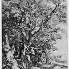 Salvator Rosa; The Rescue of the Infant Oedipus; 1663; etching and drypoint; 724 x472 mm; Paris BN