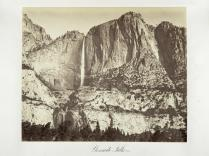 Carlton E. Watkins; Yosemite Falls; c.1872; albumen silver print from glass negative; The Metropolitan Museum of Art