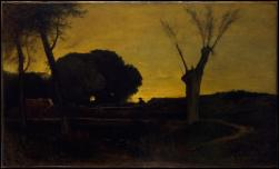 Goerge Inness; Evening at Medfield, Massachusetts; 1875; oil on canvas; 96.5 x 160.3 cm