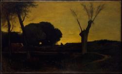 Goerge Inness; Evening at Medfield, Massachusetts; 1875; oil on canvas; 96.5 x 160.3 cm
