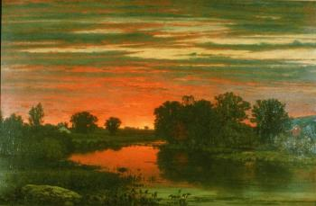 George Inness; Twilight; c.1860; Willaims College, Museum of Art