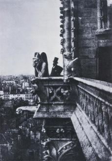 Charles Negre; Henry Le Secq at Notre Dame Cathedral, Paris; 1851