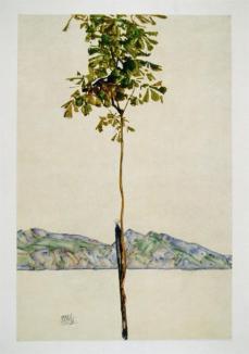 Egon Schiele; Horse Chestnut Tree, Lake Constance; 1912; watercolor and pencil; 45.8 x 29.5 cm