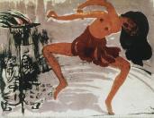 Emil Nolde; Dancer; 1913; lithograph