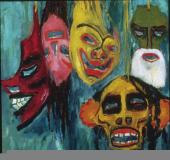 Emil Nolde; Masks; 1911; oil on canvas; 29 x 31 in.
