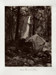 Carlton E. Watkins; Lower Yosemite Fall, 1600 feet; c.1876; albumen silver print from glass negative; The Metropolitan Museum of Fine Art