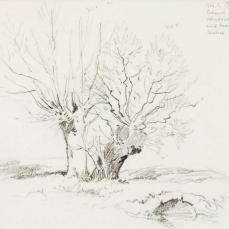 George Elbert Burr; Roche Vaud; 1899; pencil on paper; 12.4 x 19.6 cm; Smithsonian American Art Museum Collection