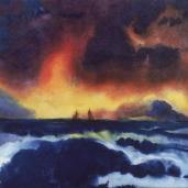 Emil Nolde; Agitated Sea; watercolor; 34 x 45.4 cm