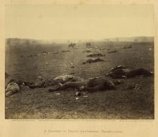 Timothy H. O'Sullivan; A Harvest of Death, Gettysburg, Pennsylvania; 1863, albumen print; 17.2 x 22.2 cm; George Eastman House, Rochester, NY