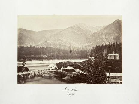 Carlton E. Watkins; Cascades, Oregon; c.1876; albumen silver print from glass negative; The Metropolitan Museum of Fine Art