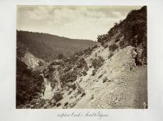 Carlton E. Watkins; Sulphur Creek and Road to Geysers; c.1876; albumen silver print from glass negative; The Metropolitan Museum of Fine Art