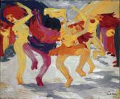 Emil Nolde; Dance Around the Golden Calf; Neue Pinakothek (München, Germany)