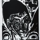 Ernst Ludwig Kirchner; Head of Otto Müller; 1913