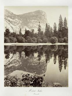 Carlton E. Watkins; Mirror Lake, Yosemite; c.1876; albumen silver print from glass negative; The Metropolitan Museum of Fine Art