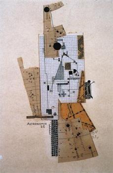 Hannah Höch; Astronomy (Astronomie); 1922; collage; 25.7 x 20.5 cm