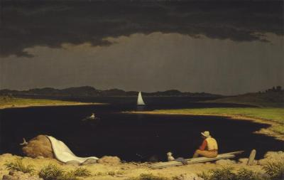 Martin Johnson Heade; Approaching Thunder Storm; 1859; oil on canvas; 71.1 x 111.8 cm; The Metropolitan Museum of Art