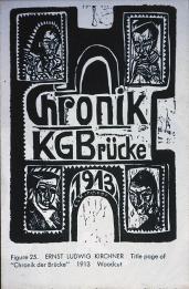 Ernst Ludwig Kirchner; Title Page of Chronik der Brücke; 1913; woodcut
