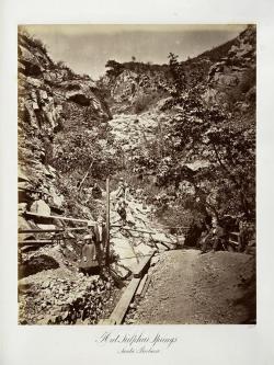 Carlton E. Watkins; Hot Sulphur Springs, Santa Barbara; c.1876; albumen silver print from glass negative; The Metropolitan Museum of Fine Art
