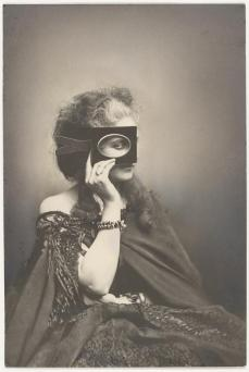 Pierre-Louis Pierson; Scherzo di Follia (The Countess Castiglione Posing With a Frame Held Over One Eye); 1863-6, printed in 1940s; gelatin silver print from glass negative; The Metropolitan Museum of Art, New York, NY