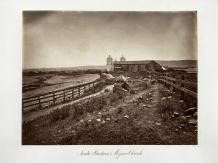 Carlton E. Watkins; Santa Barbara and Mission Church; c.1876; albumen silver print from glass negative; The Metropolitan Museum of Fine Art
