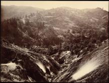 Carlton E. Watkins; Devil's Canyon, Geysers, Looking Down; c.1876; albumen silver print from glass negative; The Metropolitan Museum of Fine Art