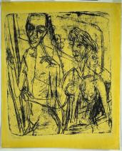 Ernst Ludwig Kirchner; Couple in Room, Nude Man with Woman; 1915-6; lithograph; The Cleveland Museum of Art