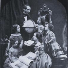 Antoine François Jean Claudet; Geography Lesson; 1851; daguerrotype